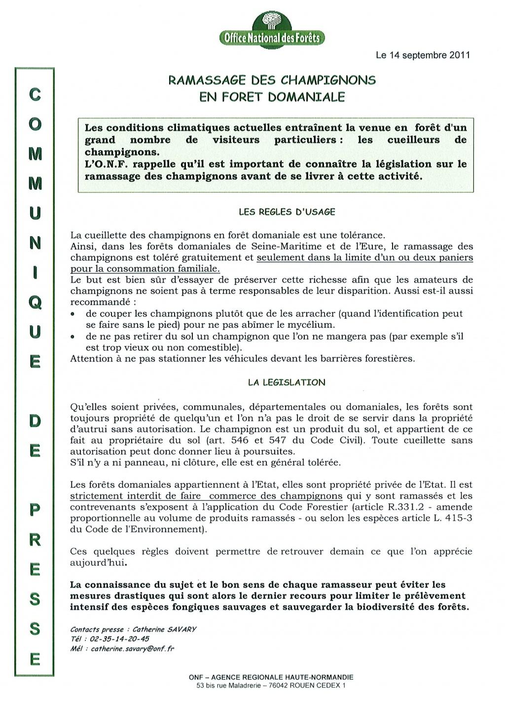 Bienvenue vatteville la rue champignons message de l 39 office national des for ts bienvenue - Office national des forets ...