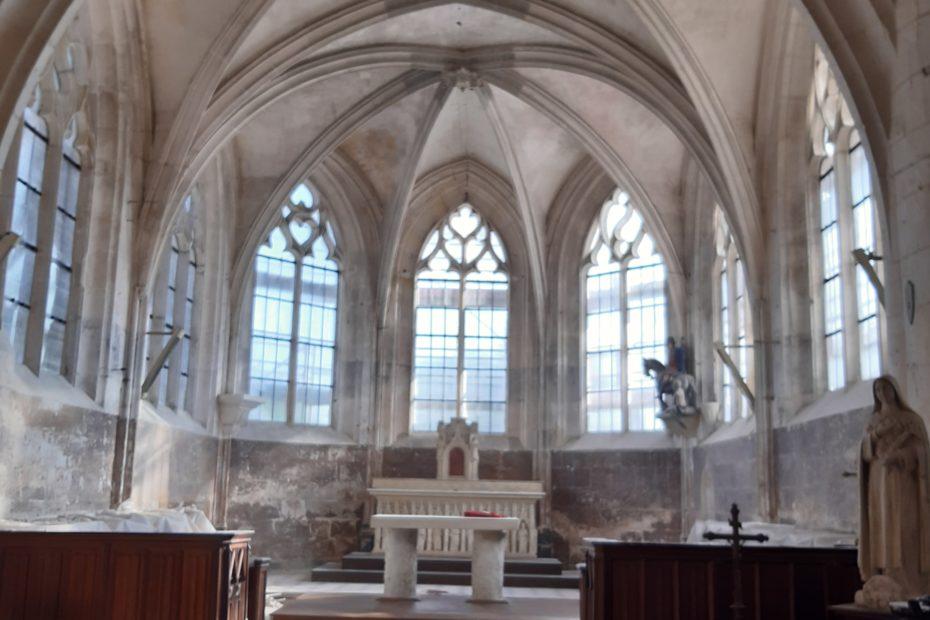 Choeur église après dépose echafaudage